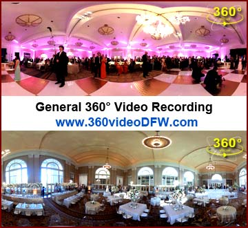 Your events recorded in 360°. 360° Video Recording Service in the Dallas-Fort Worth Metroplex