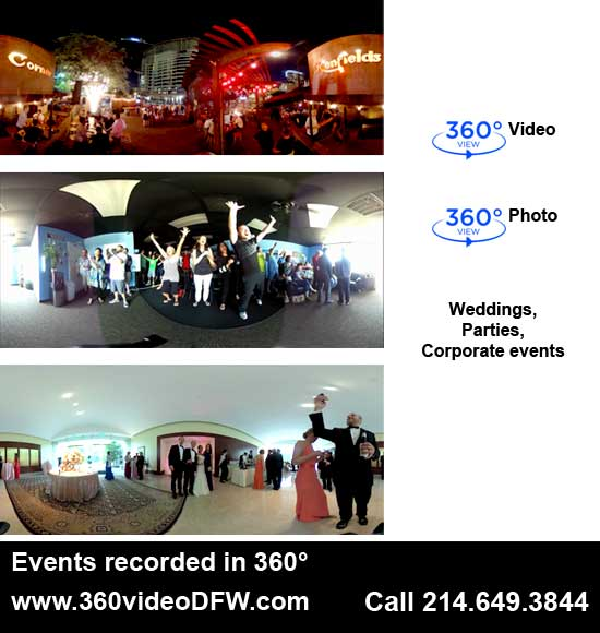 360° Video Recording Service in the Dallas-Fort Worth Metroplex